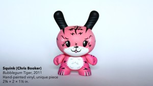 Squink's Bubblegum Tiger custom Dunny, 2011