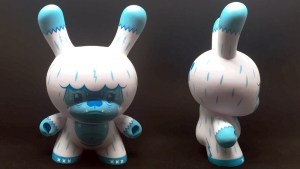 """Squink's Kono the Yeti 8"""" Dunny from Kidrobot, Blue """"Ice"""" Edition, 2018"""