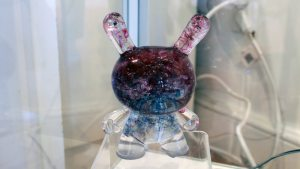 TaskOne's Broken Glass Dunny (Resin version the Kidrobot figure)