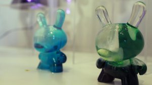 TaskOne's Greenscape Dunny (Resin version the Kidrobot figure)