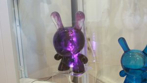 TaskOne's Purple Light-up Dunny (Resin version the Kidrobot figure)