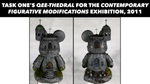 Task One's custom Qee Bear Qee-thedral, 2011