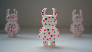 They Came From Planet Rainbow Sparkles - UAMOU's Green and Pink Polkadot Uamou