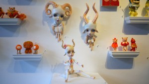 They Came From Planet Rainbow Sparkles - Erica Borghstijn's Ram Boy, Bison Girl & Antelope Girl