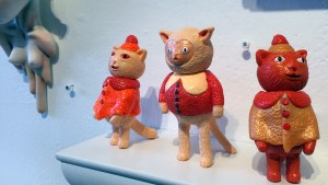They Came From Planet Rainbow Sparkles - Grumble Toy's Poncho Cat 1, Sweater Cat & Poncho Cat 2