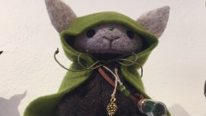 They Came From Planet Rainbow Sparkles - WoolBoon's Forest Elf in Green Coat
