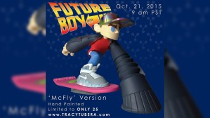 Tracy Tubera's Future Boy Resin Sculpture