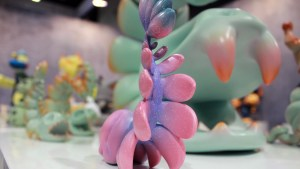 Chao Woo's INLY COOL / Gravitational Bone series at ToyQube's 2019 DesignerCon Booth
