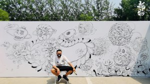 Chao Woo's INLY COOL / Gravitational Bone series mural