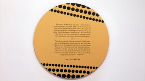 Yayoi Kusama's All the Eternal Love I Have for the Pumpkins - information card