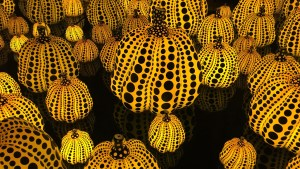 Yayoi Kusama's All the Eternal Love I Have for the Pumpkins - Infinity Mirror Room interior