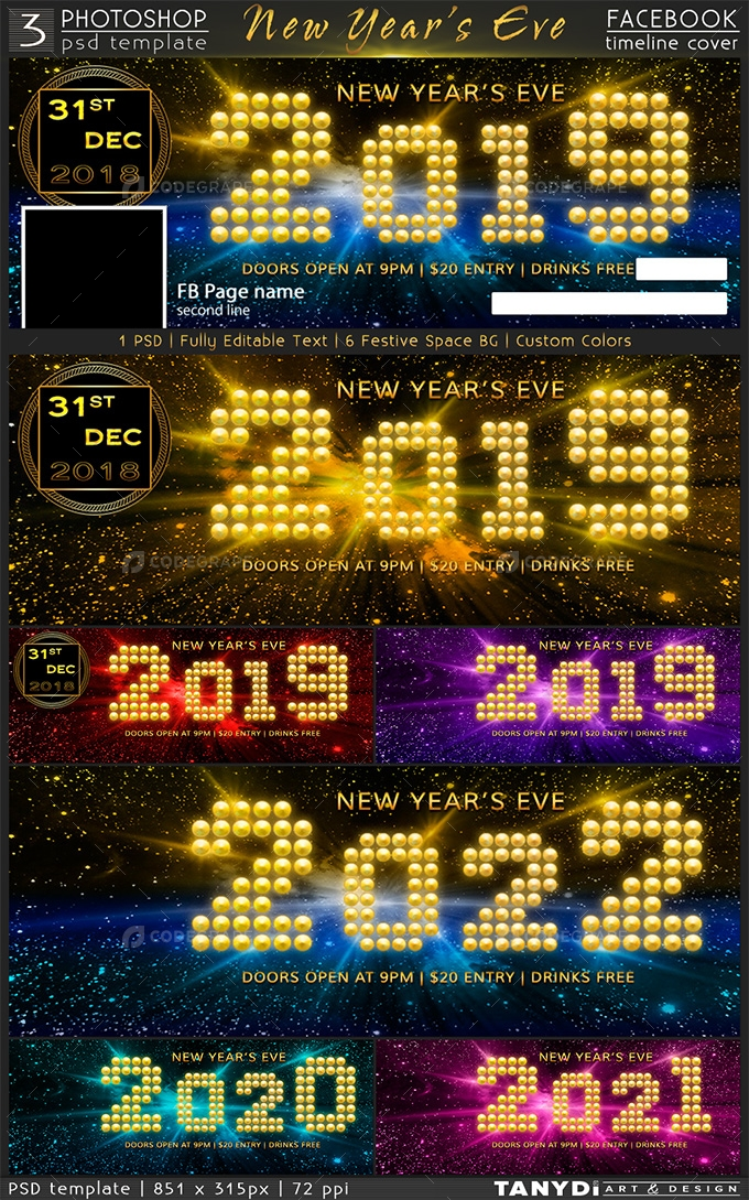 New Years Eve Party FB Timeline Cover Graphics CodeGrape
