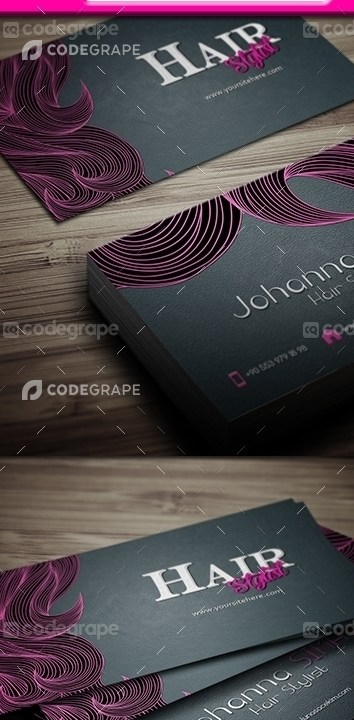 Grabs Full Pixels » Hair Stylist Business Card   Print   CodeGrape