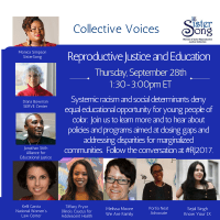 Invitation | Reproductive Justice and Education