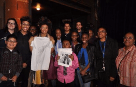 Valerie June with students