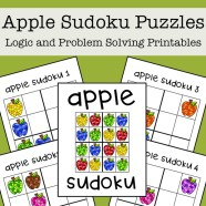 Apple Sudoku Printable Puzzles