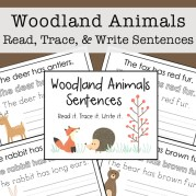 Woodland Animals: Read, Trace, and Write Sentences