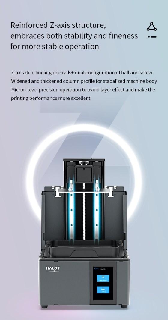 7960 Resin Printer Creality CN3D Epsilon 005 Creality Halot-Sky CL-89, imprimanta 3D cu rasini, 4K, sistem de iluminare inovator