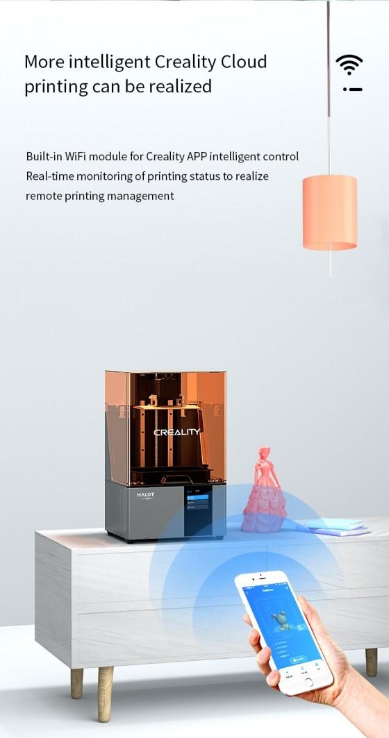 7960 Resin Printer Creality CN3D Epsilon 008 Creality Halot-Sky CL-89, imprimanta 3D cu rasini, 4K, sistem de iluminare inovator