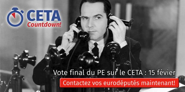 Vote du Parlament Européen sur le CETA