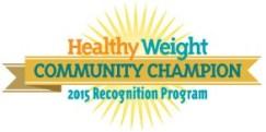 Healthy Weight Community Champion Logo