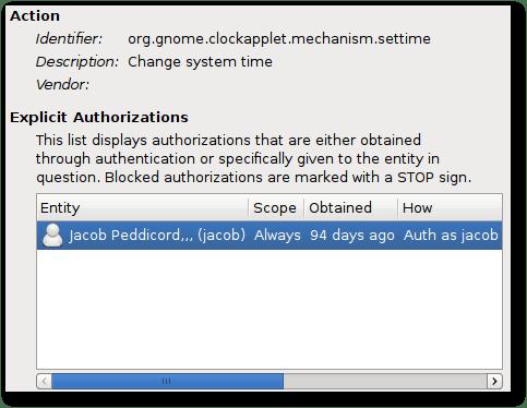 PolicyKit Editor