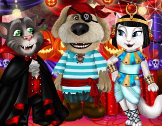 Play Free Talking Tom And Angela Halloween Party