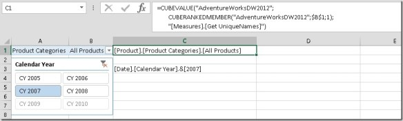 Excel Add-In for tabular modelling and in-memory column store