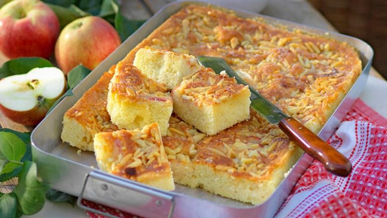 Saftig äppeltosca i långpanna recept