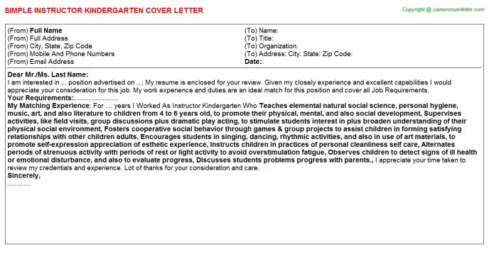 Jrotc Instructor Cover Letters