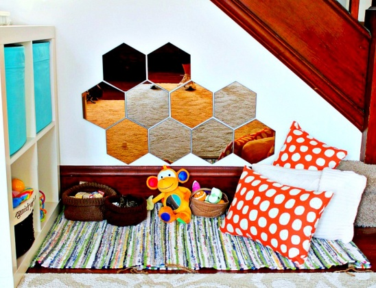 Baby Play Area With Ikea Honefoss Mirrors By Samantha Winterland Project Home Decor Decorative Kids Baby Rugs Kollabora
