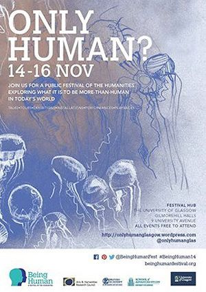 Only Human? 14-16 November Poster