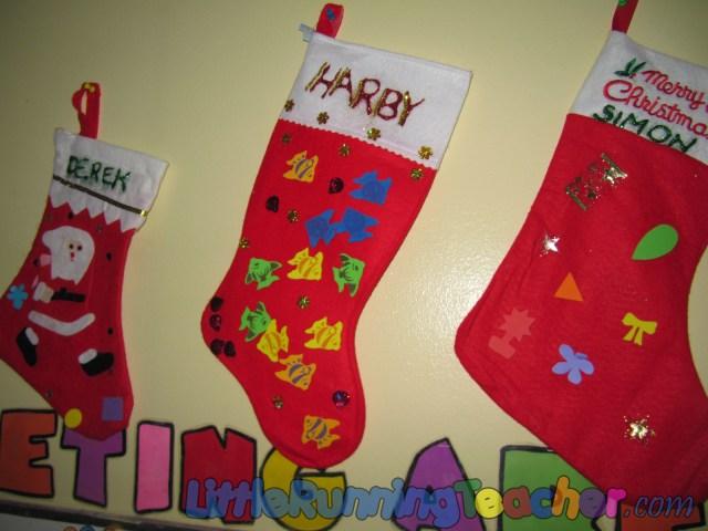 Jazzed Up Christmas Stockings « Little Running Teacher