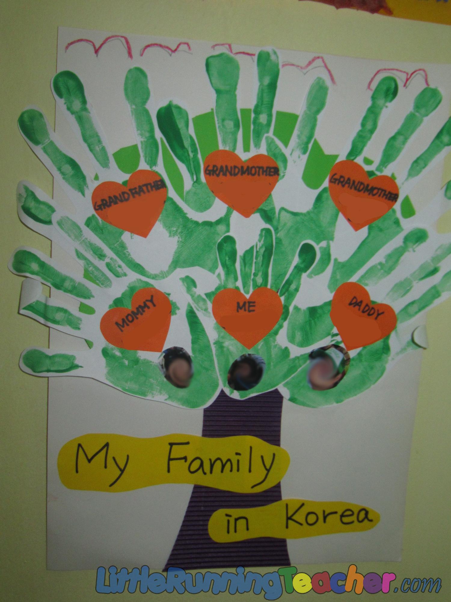 Family Tree In Preschool Little Running Teacher