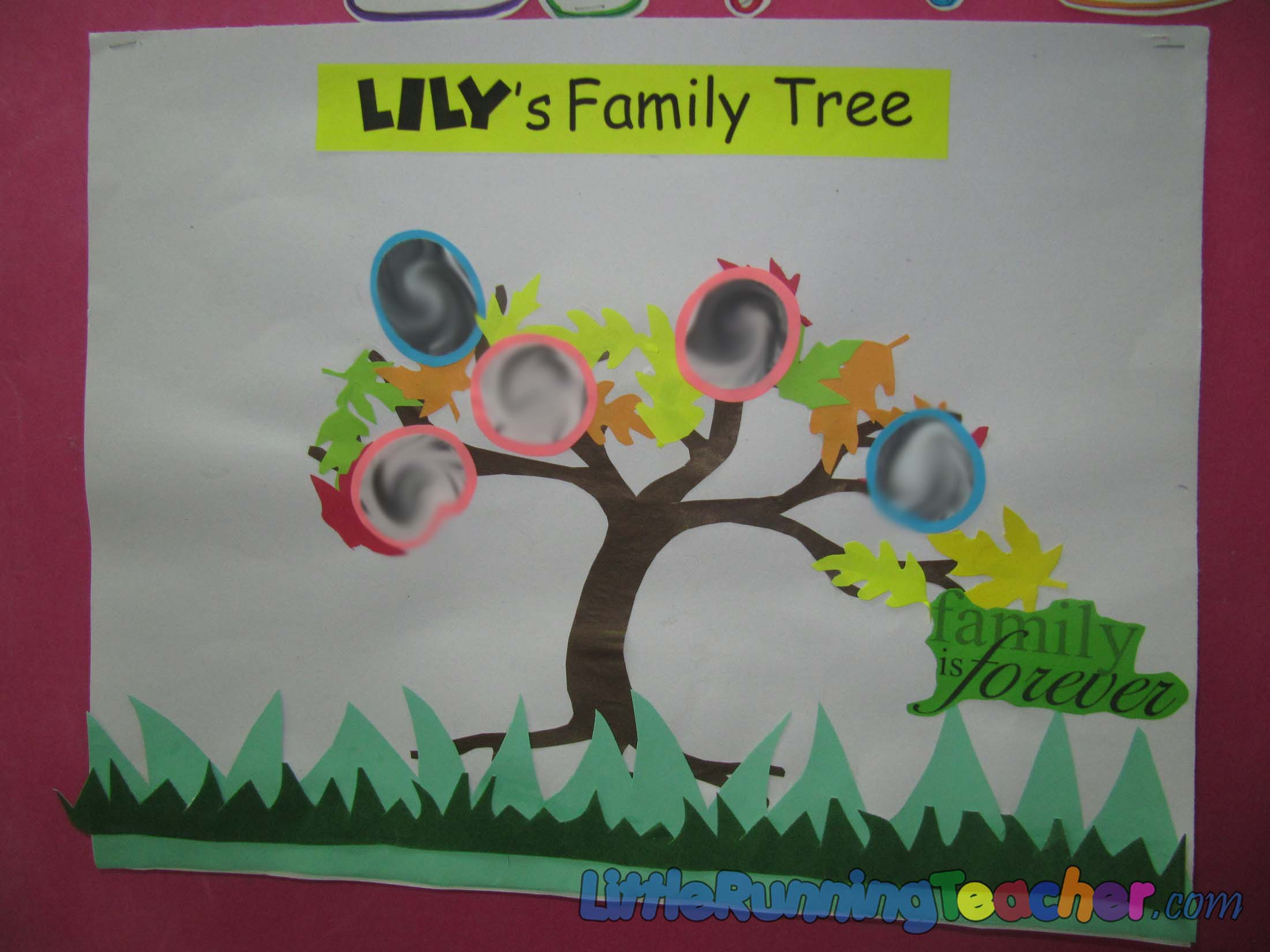 A Family Tree In Fall Little Running Teacher