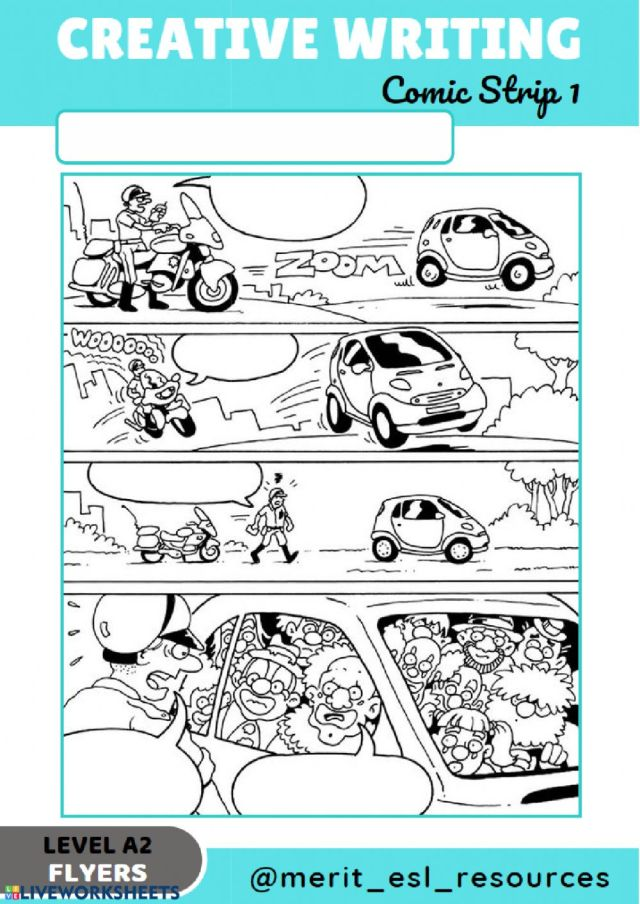 Comic Strip - Write a story interactive activity
