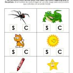 Beginning Sound Letter C S Worksheet