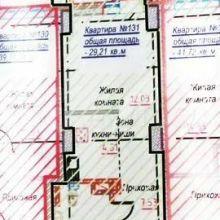 Увеличить - Объект №10851633-lotп ул. 35-я Линия Великолепная студия, площадью 29,21 м2 с видом на Дон и Зеленый Остров.12 этаж, в современном доме, класса