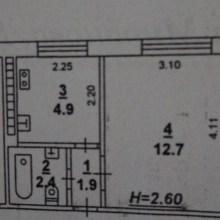 Увеличить - Объект №7871149-lotс Миронова 1 к квартира в доме гостиничного типа. Требуется ремонт. Окна пластиковые и отопление новые (осень 2018г). Сантехника пластик . НЕ угловая. Ипотека, матер. капитал подходит. ТОРГ у двери!!!: ,