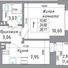 Увеличить - Объект №4154458-lotс Комарова Представляем вниманию новый ЖК в самом центре Северного жилого массива г. Ростова-на-Дону. Данный комплекс комфорт-класса возводится в золотом квадрате микрорайона, что обуславливает богатую инфраструктуру - рядом парк, детские сады, школы, церковь, торговые центры, О-кей, банки, поликлиника и даже аквапарк. Хотите жить в новом доме? Звоните! Мы работаем от застройщика - никаких комиссий! Ждем в нашем офисе по адресу: г. Ростов-на-Дону, ул. Добровольского, 18/22. Для просмотра лучше записаться по номеру телефона в объявлении. <br>Сдача дома 3 кв. 2022 г. <br>Внимание! Самая раскупаемая планировка. Торопитесь успей сделать выгодную покупку. <br>Ипотека, рассрочка, материнский капитал, все виды сертификатов.<br>Помощь в оформлении ипотеки.<br><br>С проектной декларацией на объект можно ознакомиться в нашем офисе по адресу: г. Ростов-на-Дону, ул. Добровольского, 18/22, с понедельника по пятницу с 10-00 до 18-00: ,