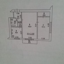 Увеличить - Объект №8032559-lotн пр-кт Шолохова Меняю на частный дом или продам 2-х комнатную квартиру площадью 43/28/6 кв. м на 3 этаже 5 этажного кирпичного дома. Комнаты смежные, состояние под косметический ремонт. Дом после капитального ремонта. Центр города, развитая инфраструктура, рядом парк, школа, магазины. Торг. Возможен обмен. Контактное лицо: Людмила.: ,