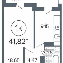 Увеличить - Объект №7799094-lotс б-р Комарова Продам 1-комнатную квартиру площадью 41.82 кв. м на 9 этаже 23 этажного монолитно-кирпичного дома. ЖК Северный остров.В доме четыре лифта: 2 грузовых и 2 пассажирских. Дом сдан, ключи на руках, можно делать ремонт. Рядом школа, детский сад, магазины, остановка.: ,