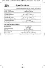 panasonic nn sa651s user manual page