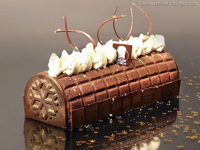 buche de noel carres de chocolat
