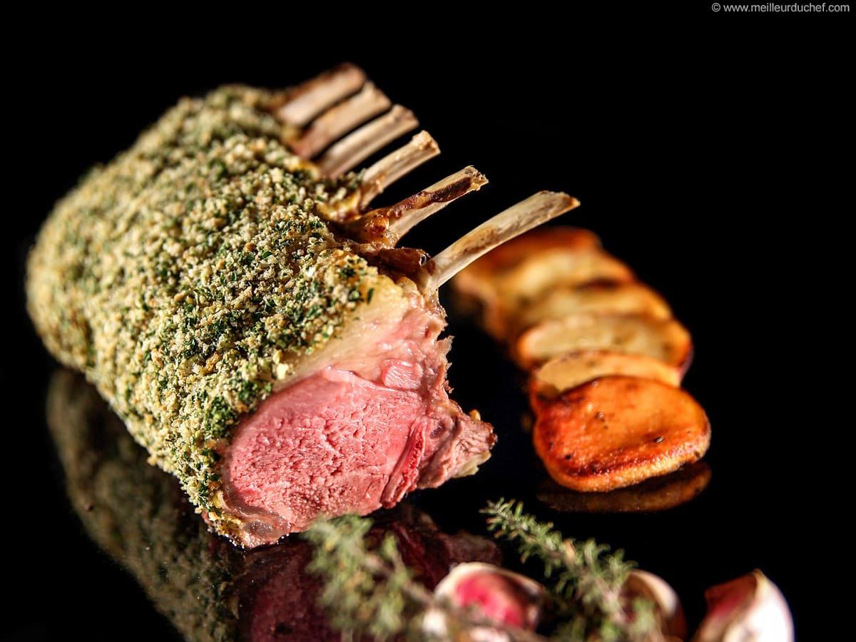 Carré d'agneau persillé à la moutarde - Notre recette avec photos ...