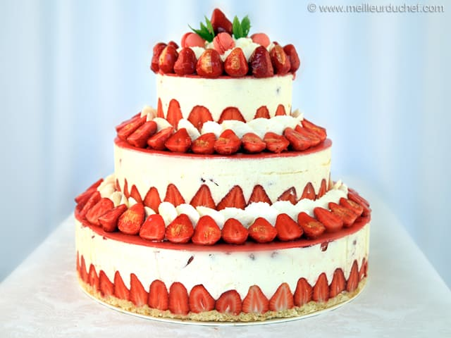 Fraisier Strawberry Wedding Cake Recipe With Images