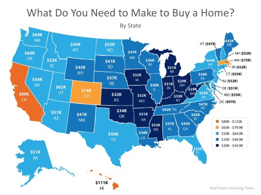 How Much Do You Need to Make to Buy a Home in Your State?   MyKCM