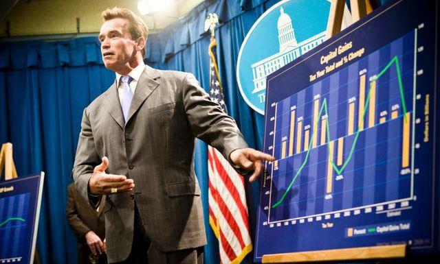 Noch nicht terminiert: Gouverneur Arnold  Schwarzenegger von Kalifornien erklärt das Budgetproblem des hart  angeschlagenen US-Bundesstaats.