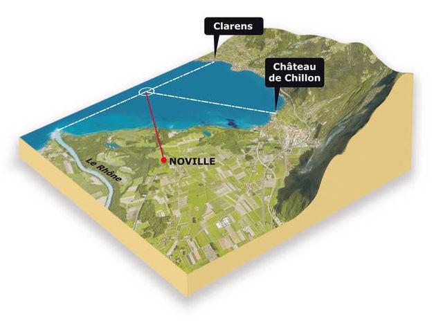 Le plan du Suisse Petrosvibri SA qui a foré durant plusieurs mois dans la commune de Noville.