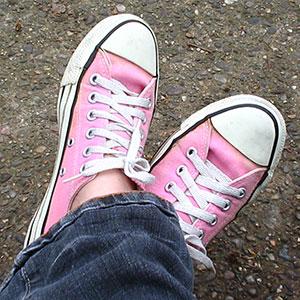 Cool pink sneaks
